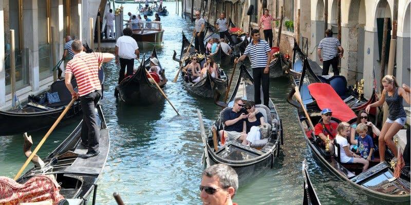 Venice busy