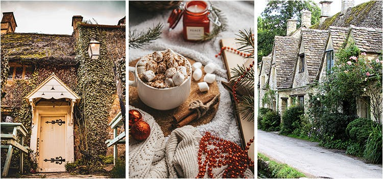 Collage of Country Cottage Images UK