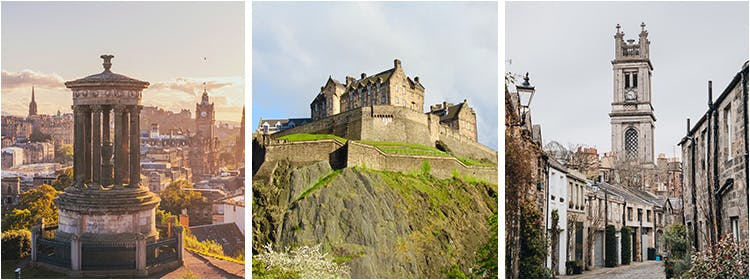 Collage of Photographs of Edinburgh Castle and the Royal Mile