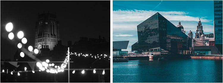 Collage of Photographs of Liverpool Cityscape