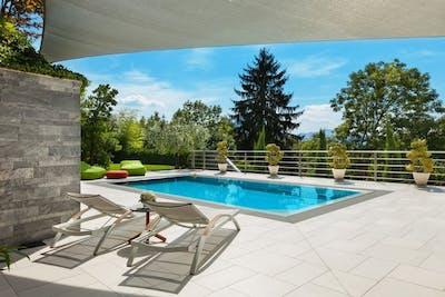 Ferienhaus Bodensee mit Pool
