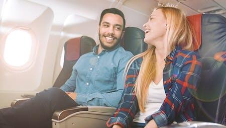 Travel like a boss im Flugzeug