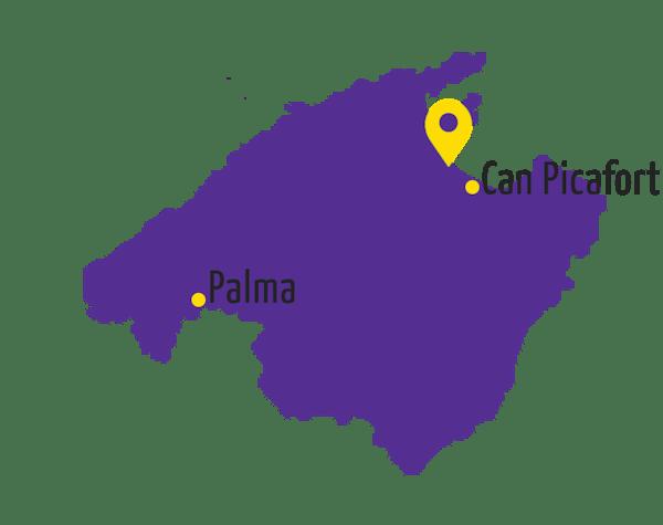 Playa de Muro Karte