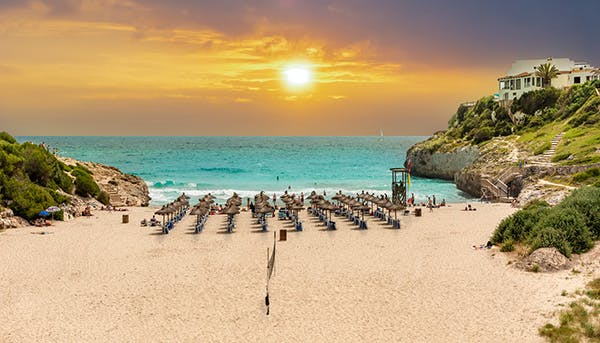 Mallorca Strand Bilder Cala Domingos