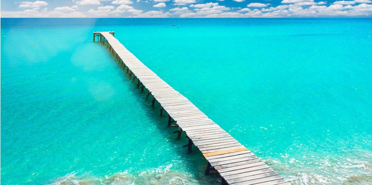 Steg am Playa de Muro