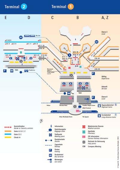 Frankfurt Flughafen Karte