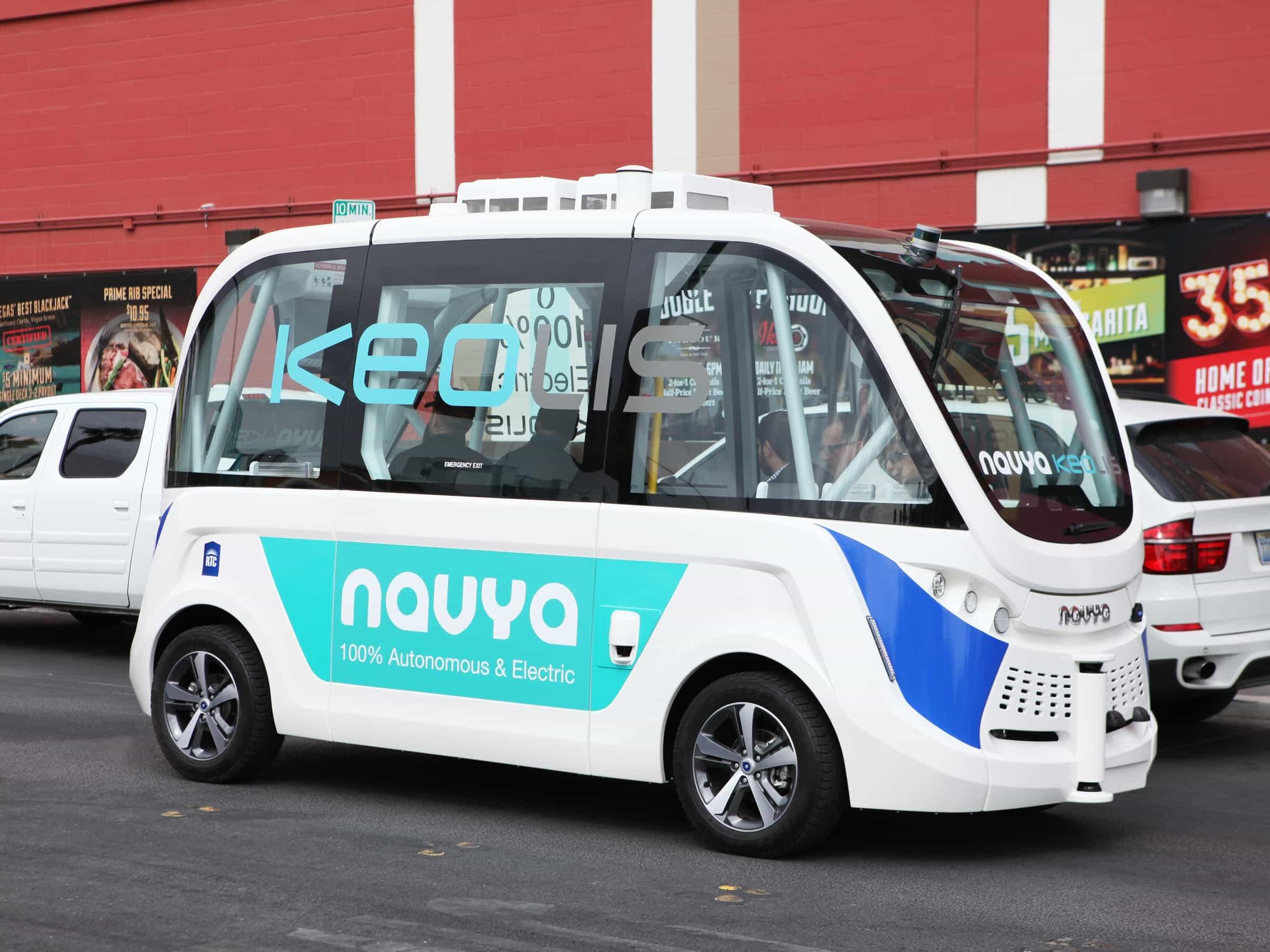 self driving shuttle buses